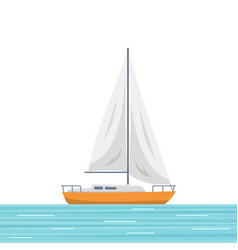 sailboat isolated vector image