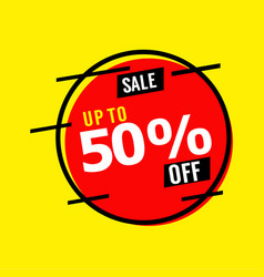 Sale up to 50 off template design vector