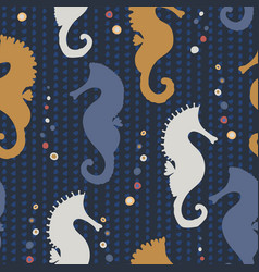 seahorse silhouette seamless vector image