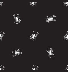 Seamless pattern with spiders halloween background vector