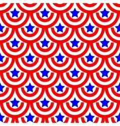Semicircle and star seamless pattern 1805 vector