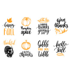 Set lettering and vector