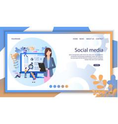 social media recruit online interview vector image