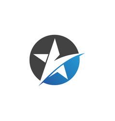 Star falcon logo template icons app vector