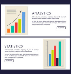 statistics and analytics data info graphics set vector image