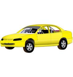 Street stock speedway car vector