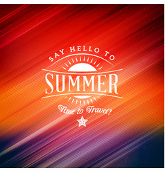 summer holidays poster typographic badge vector image