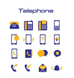 telephone phone icons white background imag vector image