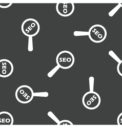 Text SEO under loupe pattern vector
