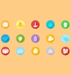 thanksgiving icon flat design vector image
