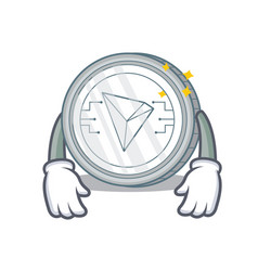 Tired tron coin character cartoon vector