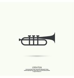 trumpet line icon vector image