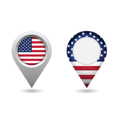 usa flag location pin vector image