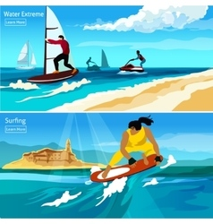 Water Extreme Compositions vector