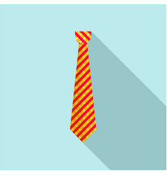 work tie icon flat style vector image
