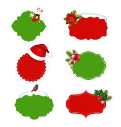 xmas vintage labels set vector image