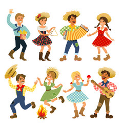 festa junina people vector image vector image