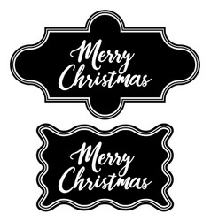 greeting vintage frame chalkboard merry christmas vector image vector image