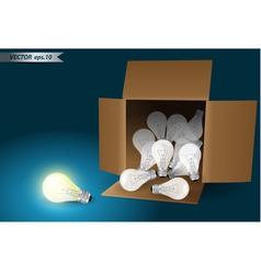 idea concept bulb in box vector image vector image