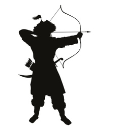 Oriental archer Warriors Theme vector image vector image