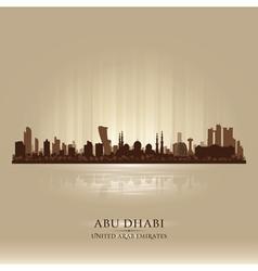 Abu dhabi uae city skyline silhouette vector