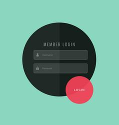 creative login form ui template design vector image
