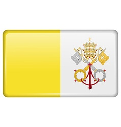 Flags Vatican CityHoly See in the form of a magnet vector image