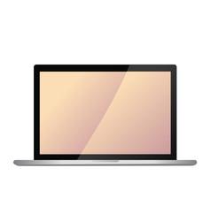 modern laptop screen vector image