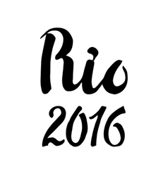 Rio lettering set2016 competition games vector image vector image