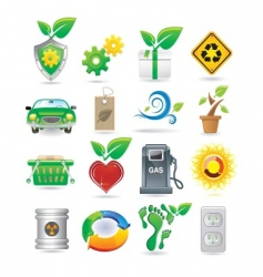 set of environment icons vector image vector image