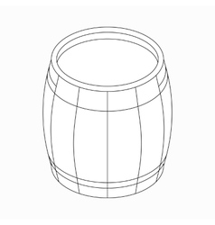 Wooden barrel icon isometric 3d style vector image