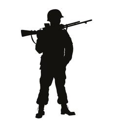 WW2 soldier Warriors theme vector image vector image