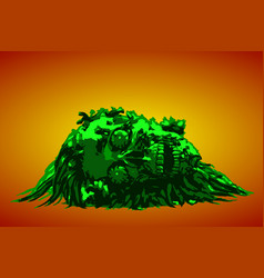 dead head lies in a pile of purulence vector image
