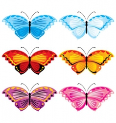 set butterfly vector image vector image