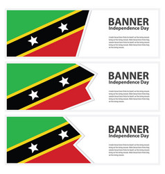 St kitts amp nevis flag banners collection vector