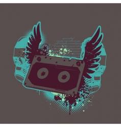 grunge tape vector image