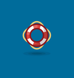 icon life ring a marine vector image