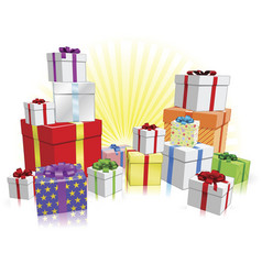 many gifts concept vector image vector image