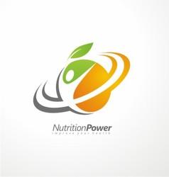 Organic health food creative symbol layout vector
