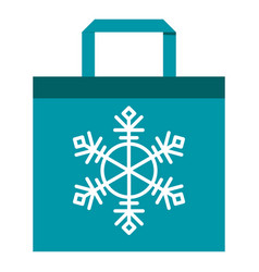 shopping bag blue vector image