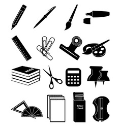 Stationary icons set vector image