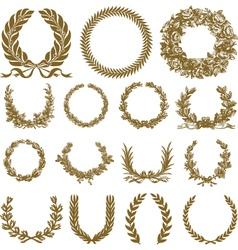 winner festival wreaths vector image
