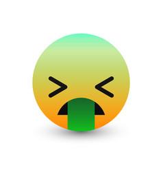 3d emoticon icon design vector