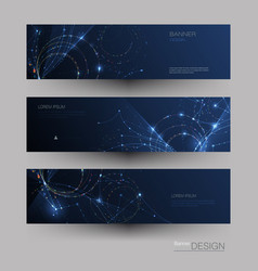abstract molecules banners set vector image
