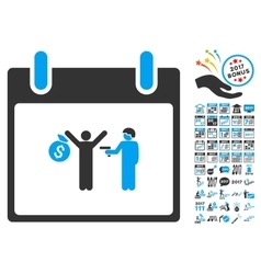 Arrest Calendar Day Flat Icon With Bonus vector image