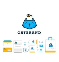 artistic corporate identity template vector image