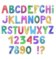 awesome colorful wooden alphabet isolated on vector image