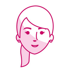 Beautiful and young woman head vector