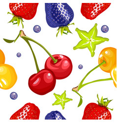 Berry seamless pattern vector