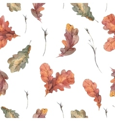Botanical autumn seamless pattern vector